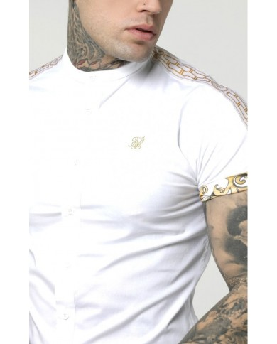 Sik Silk Cartel Roll Sleeve Grandad Shirt