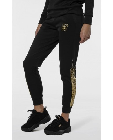 Sik Silk Slim Fit Track Pants Black