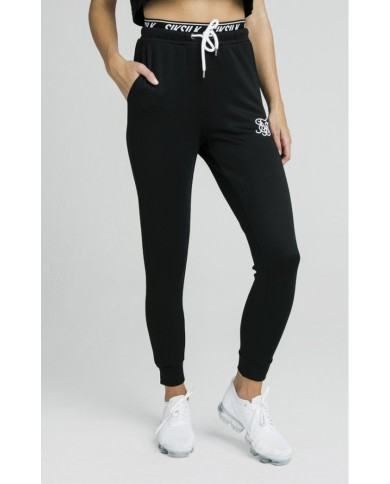 Sik Silk Taped Waist Track Pants Black