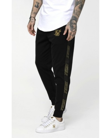 Sik Silk Gold Edit Cuffed Cropped Runner Joggers Black