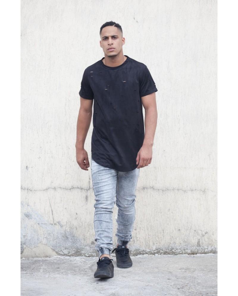 Sixth June Destroyed T-shirt Black