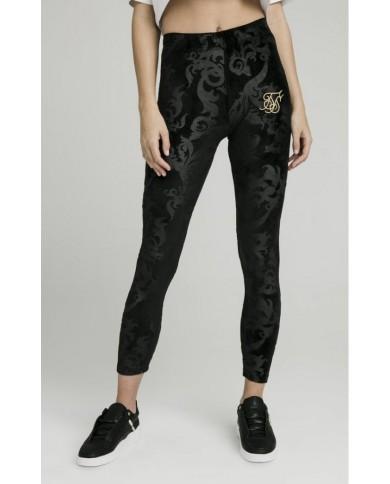 Sik Silk Embossed Velour Leggings Black