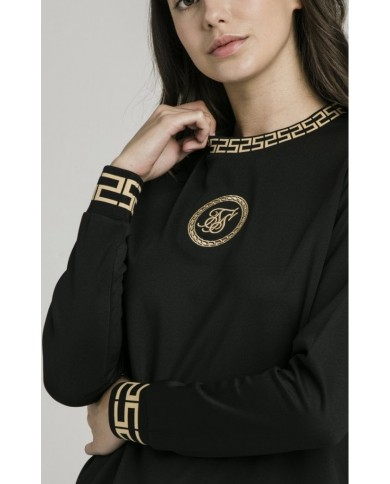 Sik Silk Luxury Poly Sweatshirt Black