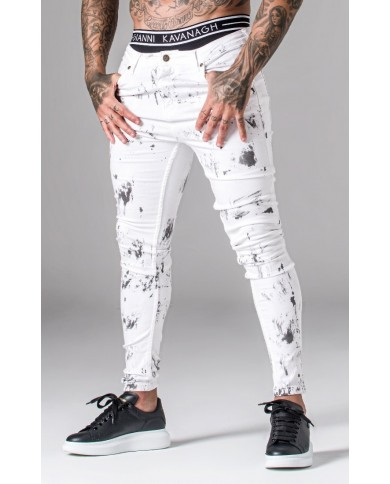 Gianni Kavanagh White Painted Jeans