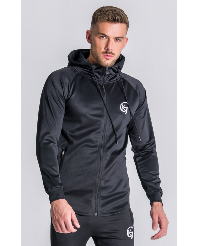 Gianni Kavanagh Black Scuba Jacket With GK Embroidery