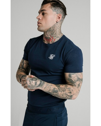 Sik Silk Core Gym Tee Navy