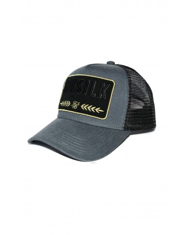 Sik Silk Washed Cotton Mesh Trucker Grey
