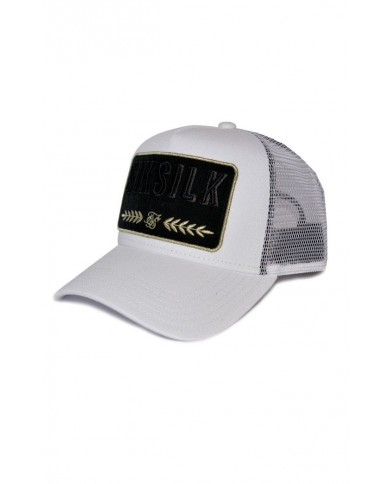 Sik Silk Washed Cotton Mesh Trucker White