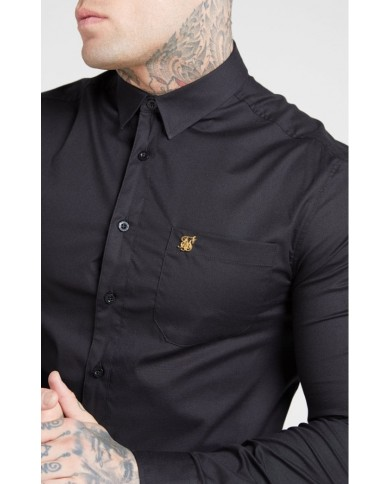 Sik Silk Smart Shirt Black