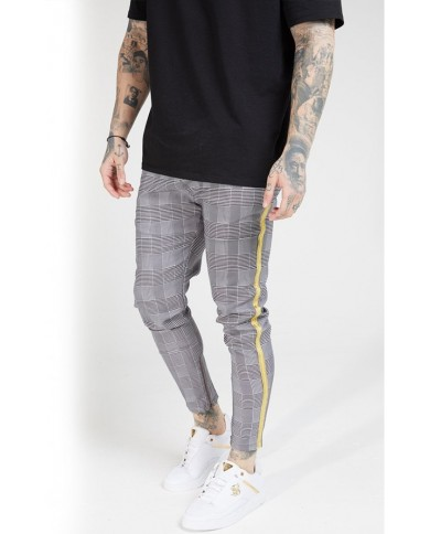Sik Silk Fitted Smart Tape Jogger Pant Dogtooth Check