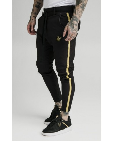 Sik Silk Fitted Smart Tape Jogger Pant Black