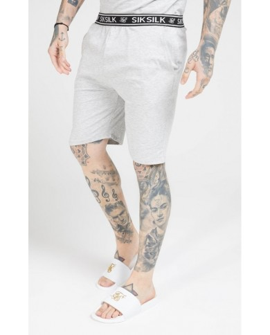 Sik Silk Loose Fit Jersey Shorts Grey Marl