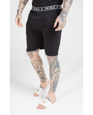 Sik Silk Loose Fit Jersey Shorts Black