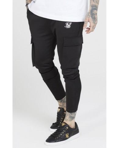 Sik Silk Poly Athlete Cargo Pants Black