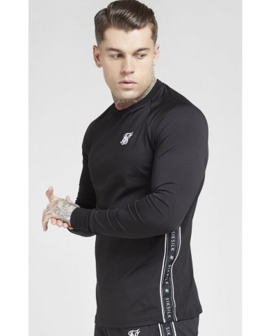 Sik Silk Tape Performance Sweater Black