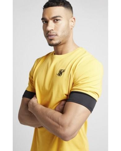 Sik Silk Inset Sleeve Gym Tee Golden Sun
