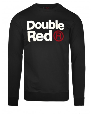 Double Red Sweatshirt FABULOUS Black