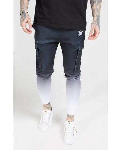 Sik Silk Poly Athlete Cargo Pants Black & White