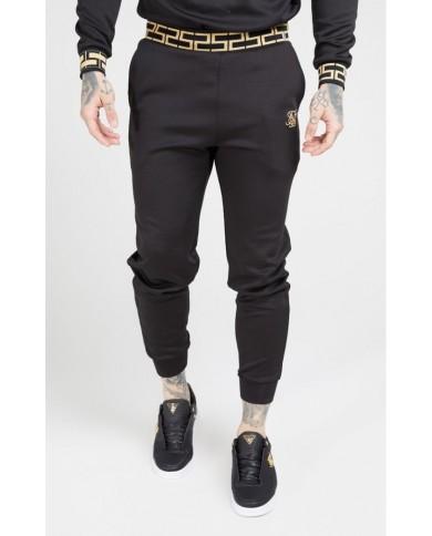 Sik Silk Cuffed Chain Rib Pants Black & Gold