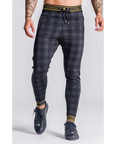 Gianni Kavanagh Black Party Season Tartan Trousers