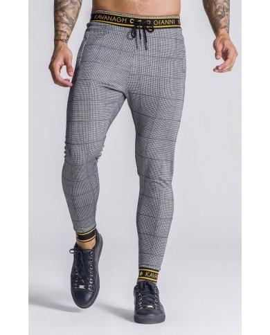 Gianni Kavanagh Grey Tartan Trousers