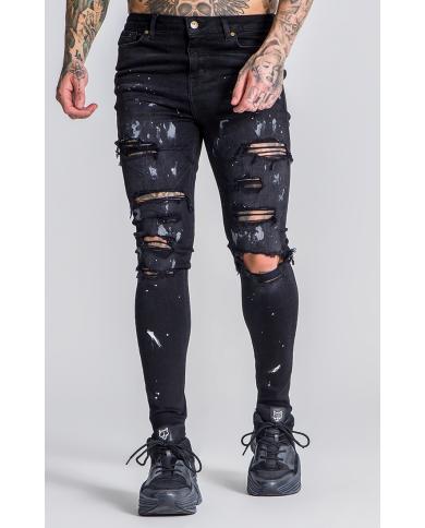 Roone Roman Black RR Splatts Jeans
