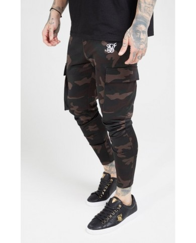 Sik Silk Poly Athlete Cargo Pants Dark Camo