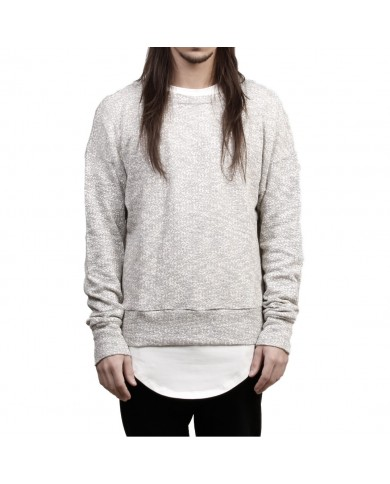 Favela Light Grey Overknit Sweater