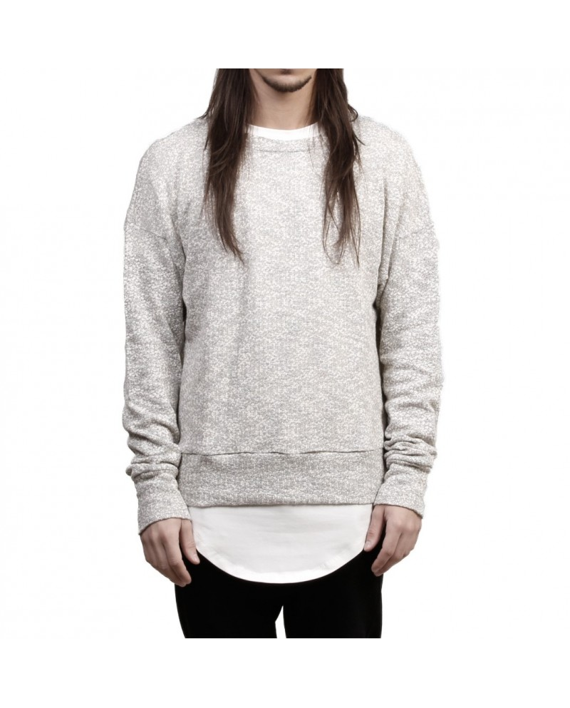 Favela Light Grey Overknit Sweater