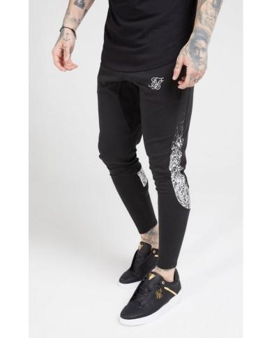 Sik Silk Athlete Tech Fade Track Pants Black & Silver