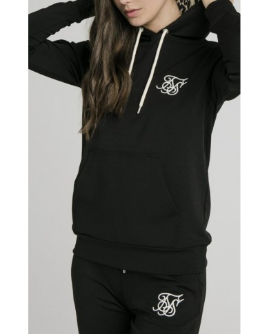 Sik Silk Leopard Hooded Track Top Black