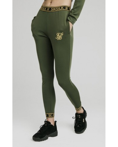 Sik Silk Taped Track Pants Bronze Green