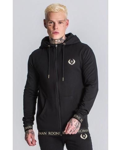 Roone Roman Black Gold Déco Hoodie Jacket