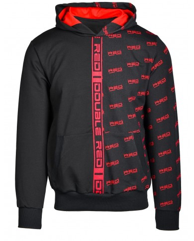 Double Red Hoodie DOUBLE FACE Black