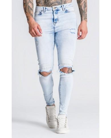 Roone Roman Light Blue RR Distressed Jeans