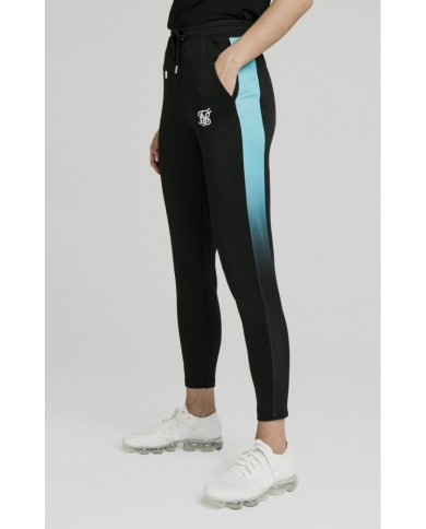 Sik Silk Fade Track Pants Black & Teal