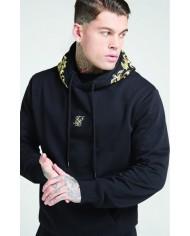 Sik Silk Overhead Hoodie Jet Black & Gold