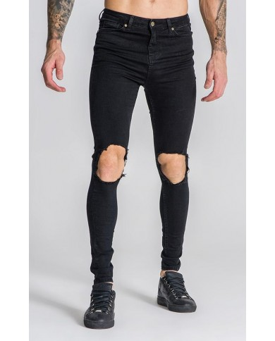 Gianni Kavanagh Black Distressed Jeans