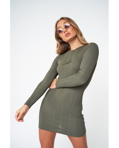 Couture Club Ribbed Signature Fitted Dress