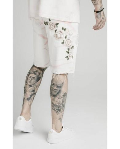 Sik Silk Loose Fit Denim Shorts Light Pink